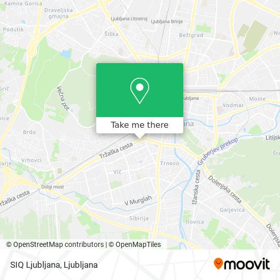 SIQ Ljubljana map
