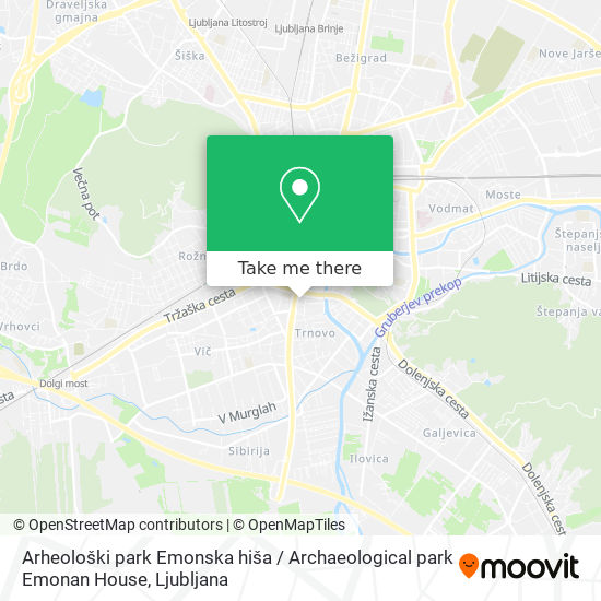 Arheološki park Emonska hiša / Archaeological park Emonan House map