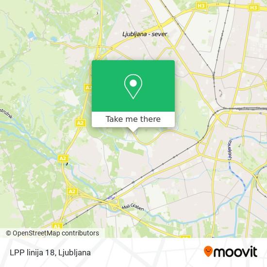 LPP linija 18 map