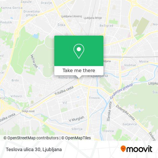 Teslova ulica 30 map