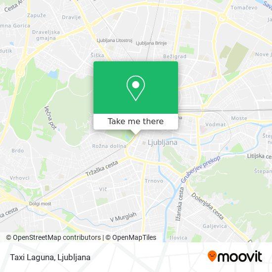 Taxi Laguna map