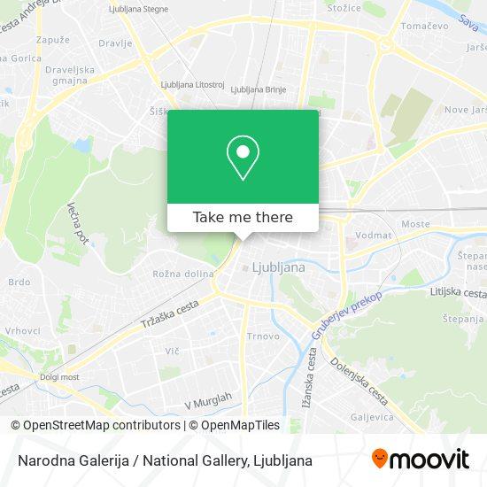 Narodna Galerija / National Gallery map
