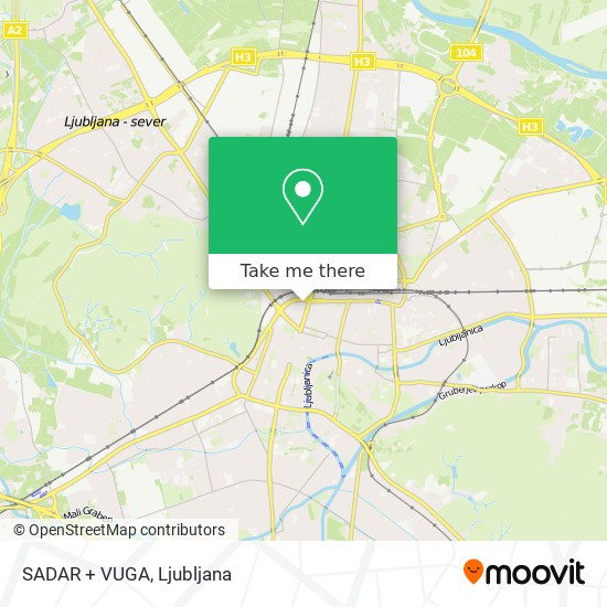 SADAR + VUGA map