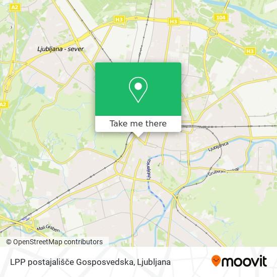 LPP postajališče Gosposvedska map