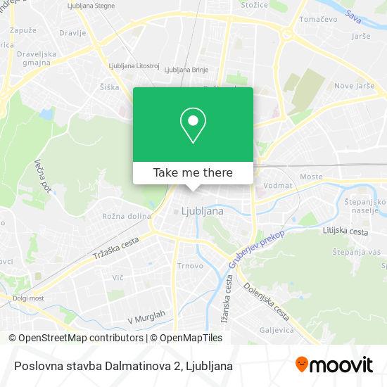 Poslovna stavba Dalmatinova 2 map