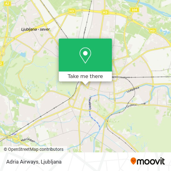 Adria Airways map