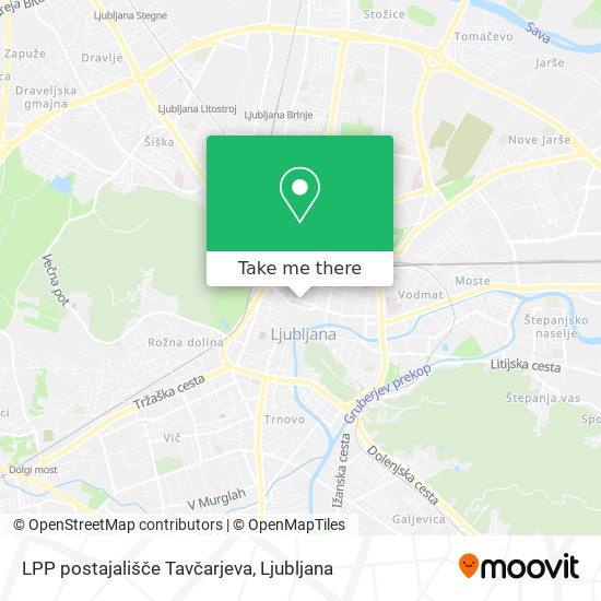 LPP postajališče Tavčarjeva map