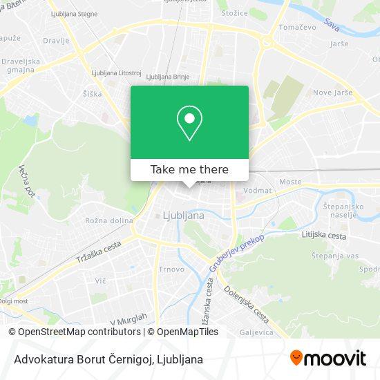 Advokatura Borut Černigoj map