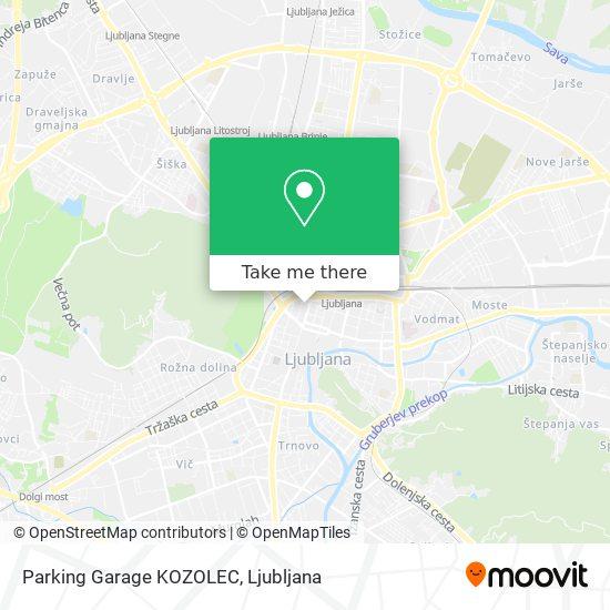 Parking Garage KOZOLEC map