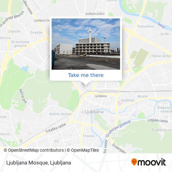 Ljubljana Mosque map