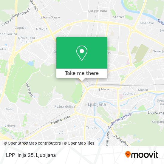 LPP linija 25 map
