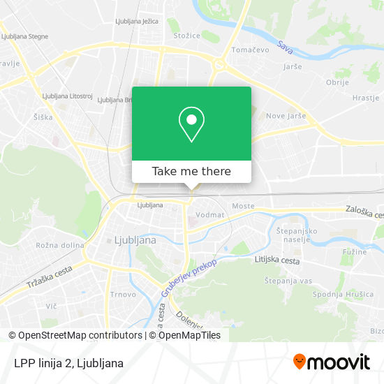 LPP linija 2 map