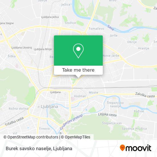 Burek savsko naselje map