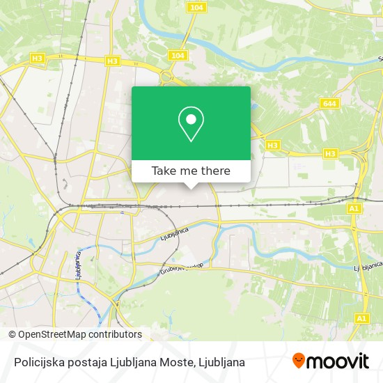 Policijska postaja Ljubljana Moste map