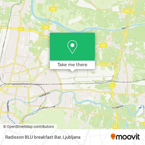 Radisson BLU breakfast Bar map