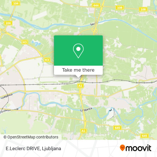 E.Leclerc DRIVE map