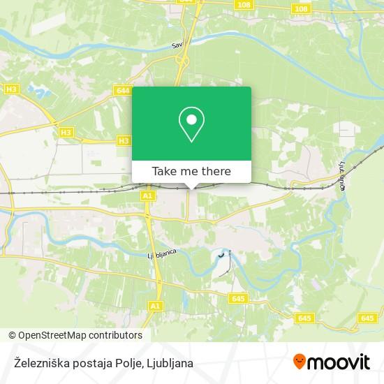 Železniška postaja Polje map