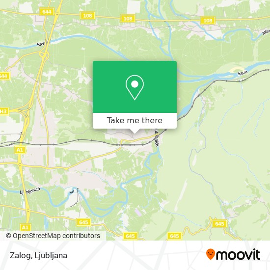 Zalog map