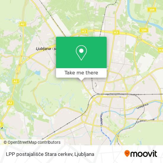 LPP postajališče Stara cerkev map