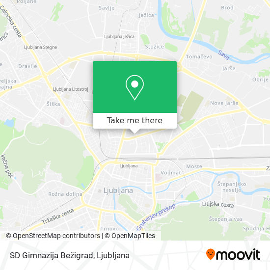 SD Gimnazija Bežigrad map