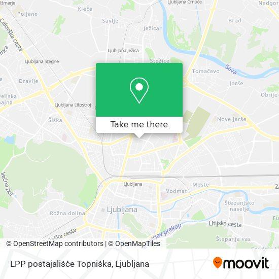 LPP postajališče Topniška map