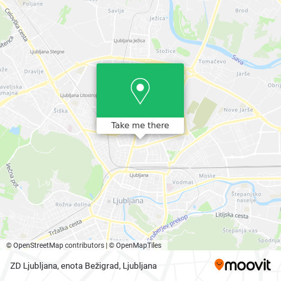 ZD Ljubljana, enota Bežigrad map