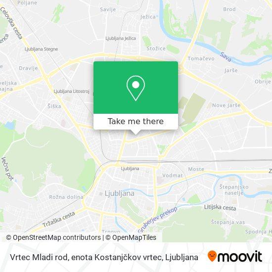 Vrtec Mladi rod, enota Kostanjčkov vrtec map