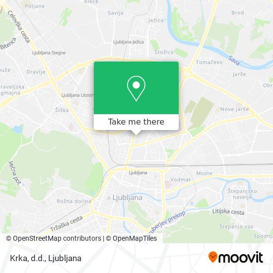 Krka, d.d. map