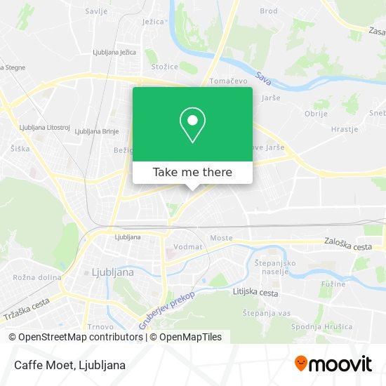 Caffe Moet map