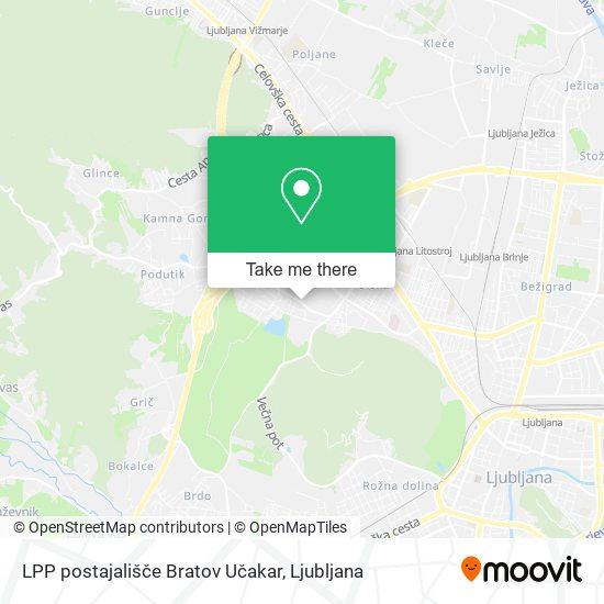 LPP postajališče Bratov Učakar map