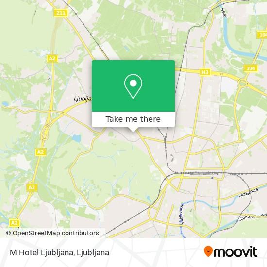 M Hotel Ljubljana map