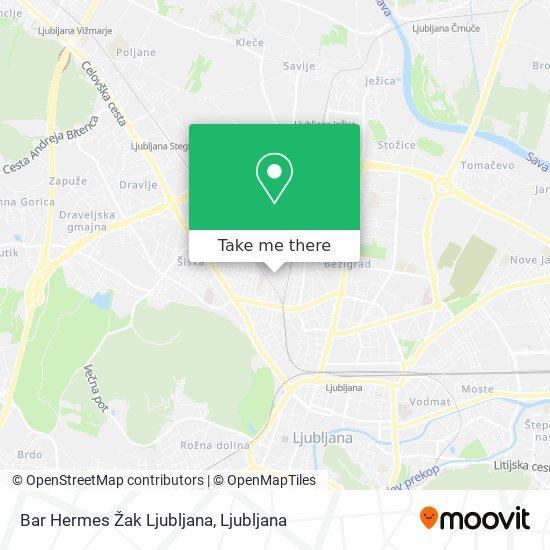 Bar Hermes Žak Ljubljana map