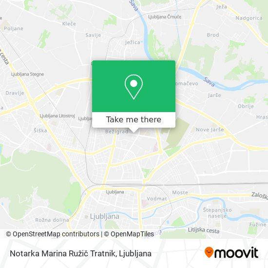 Notarka Marina Ružič Tratnik map