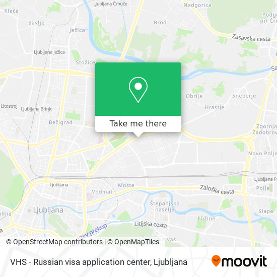 VHS - Russian visa application center map