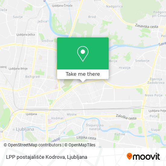 LPP postajališče Kodrova map