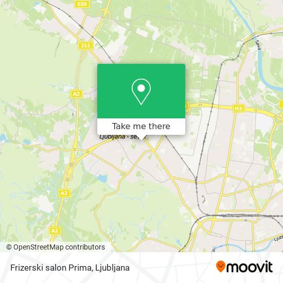 Frizerski salon Prima map