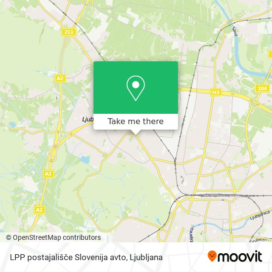 LPP postajališče Slovenija avto map
