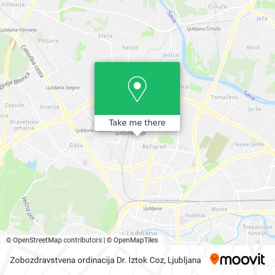 Zobozdravstvena ordinacija Dr. Iztok Coz map