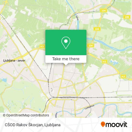 CŠOD Rakov Škocjan map