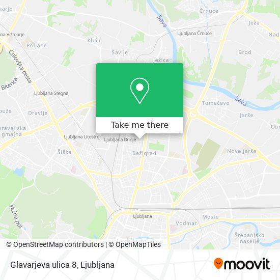 Glavarjeva ulica 8 map