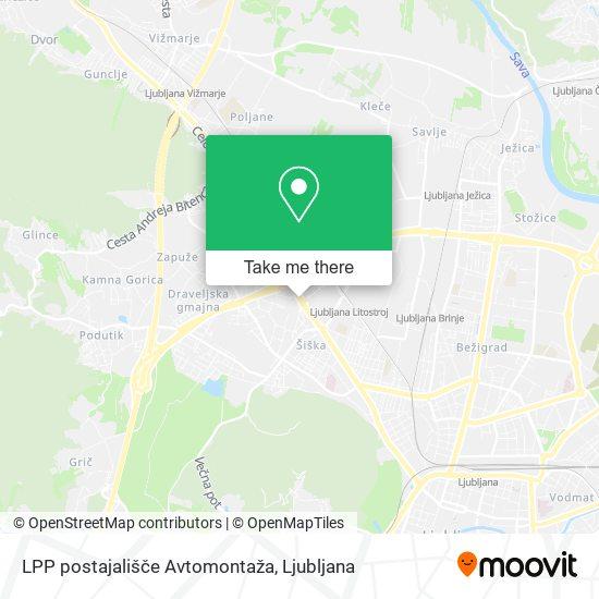 LPP postajališče Avtomontaža map