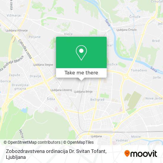Zobozdravstvena ordinacija Dr. Svitan Tofant map