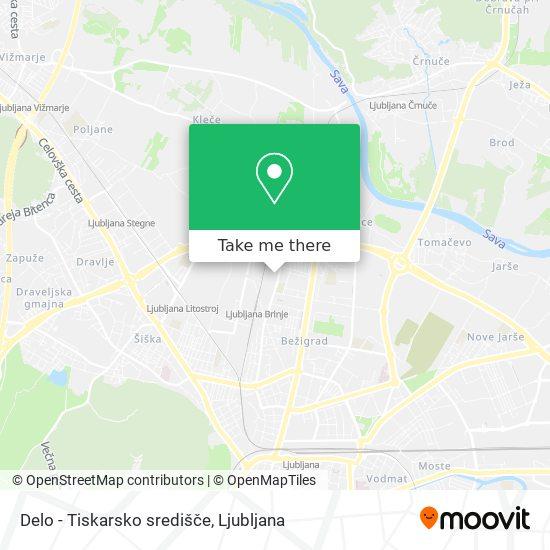 Delo - Tiskarsko središče map