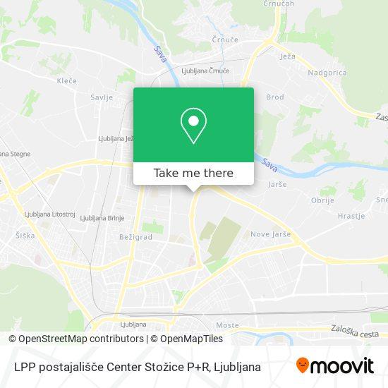 LPP postajališče Center Stožice P+R map
