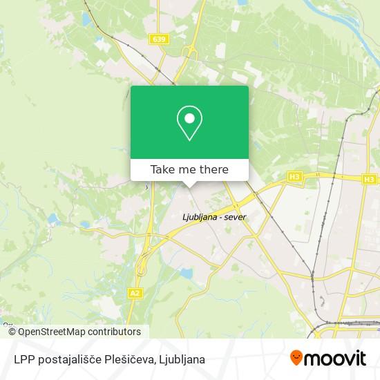 LPP postajališče  Plešičeva map