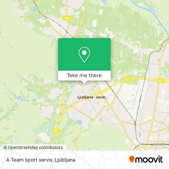 A Team sport servis map