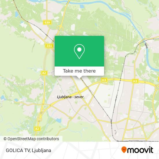 GOLICA TV map