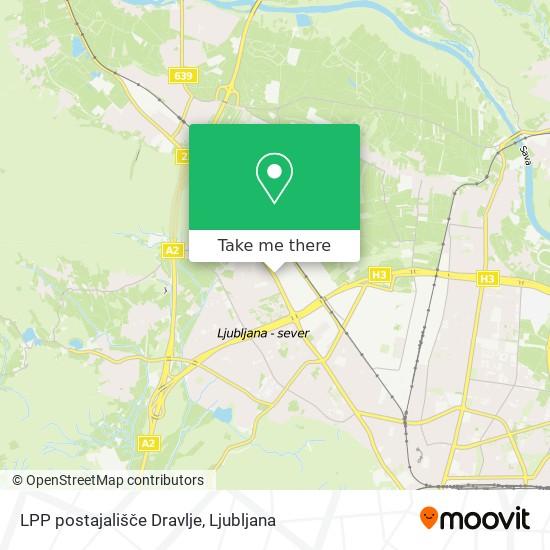 LPP postajališče Dravlje map
