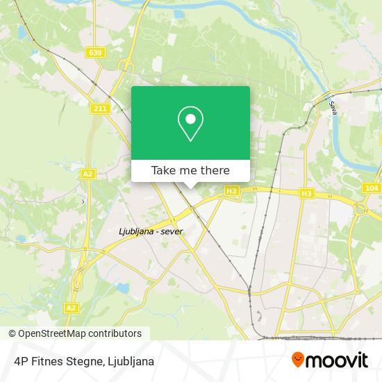 4P Fitnes Stegne map