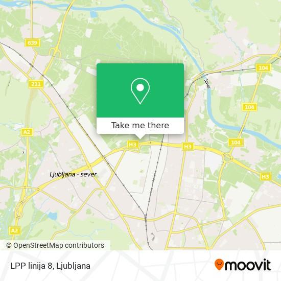 LPP linija 8 map